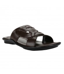 Cefiro Brown Slipper for Men - CSP0018